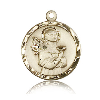 14kt Yellow Gold 7/8in St Lucy Pendant