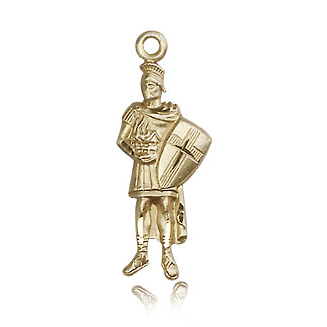 14kt Yellow Gold 1in St Florian Pendant
