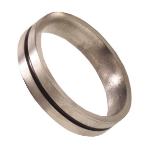 5mm Titanium Band Satin with Anodized Channel