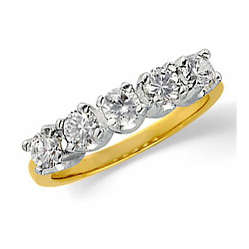 1/2 CT TW Diamond Annniversary Band - 14kt Gold