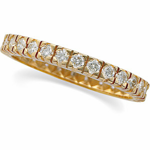 14kt Yellow Gold 9/10 CT TW Diamond Eternity Band