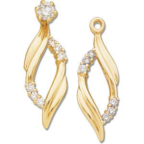 14kt Yellow Gold 1/5 CT TW Diamond Earring Jackets