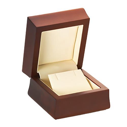 Amber Wood Earring Flap Box