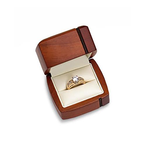Regal Wood Ring Box