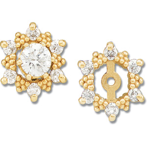 14kt Yellow Gold 1/4 CT TW Diamond Earring Jackets