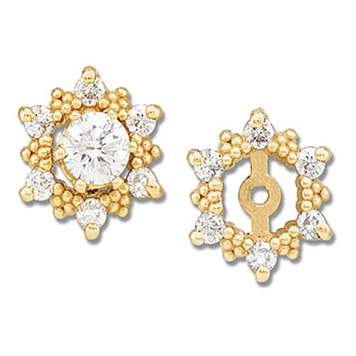 14kt Yellow Gold 1/4 CT TW Diamond Earring Jackets