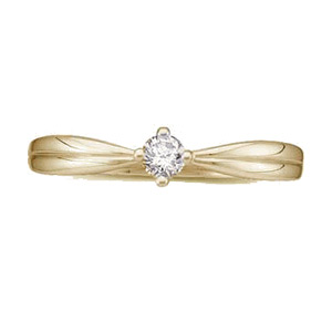 14kt Yellow Gold 1/10 ct tw Promise Ring