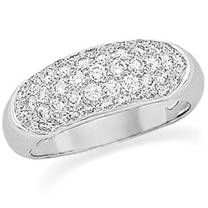 14kt White Gold 1 ct tw Diamond Pave Band