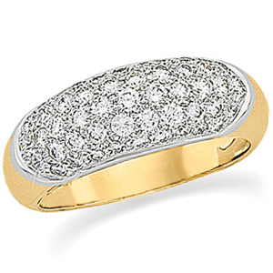 1 CT TW 14kt Gold Pavé Band