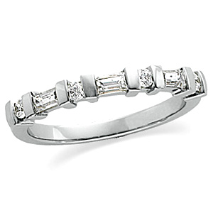 3/8 CT TW Diamond Platinum Band Size 6