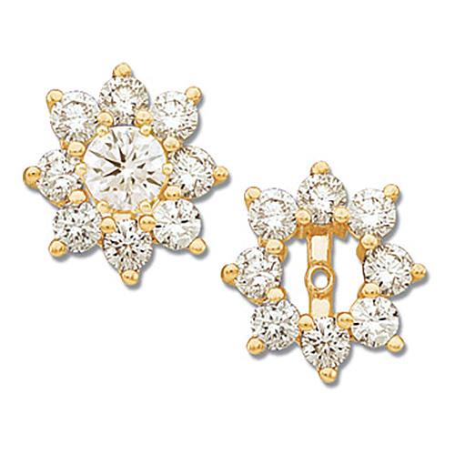 14kt Yellow Gold 1 1/5 CT TW Diamond Earring Jackets