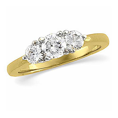 1 CT TW Diamond Three Stone Ring