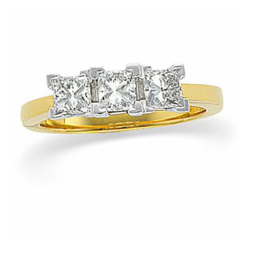 1 1/3 CT TW 14k Three Stone Ring