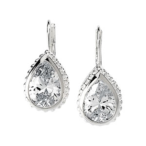 Teardrop 10x7mm CZ Earrings
