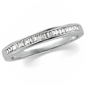 14kt White Gold 1/4 ct tw Diamond Baguette Wedding Band