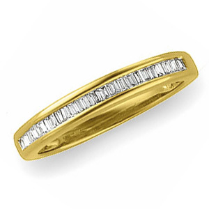 14kt Yellow Gold 1/4 CT TW Baguette Diamond Wedding Band