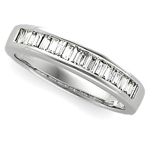 1/2 CT TW Baguette Diamond Platinum Annniversary Band