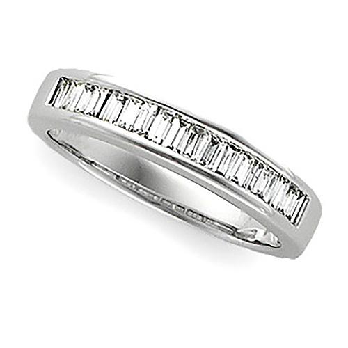 1/2 CT TW Baguette Diamond Platinum Annniversary Band