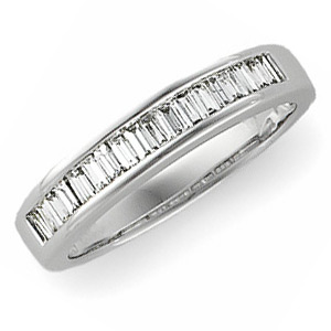 14kt White Gold 1/2 ct tw Diamond Baguette Wedding Band