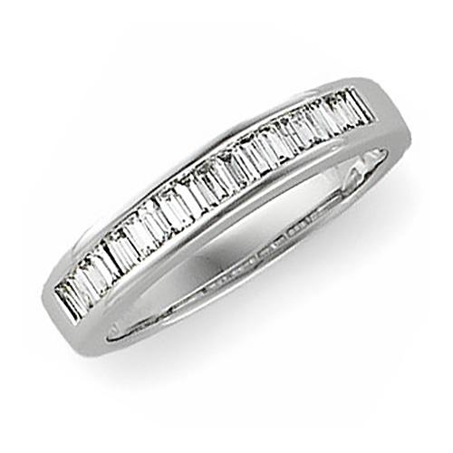 14kt White Gold 1/2 ct tw Diamond Baguette Wedding Band