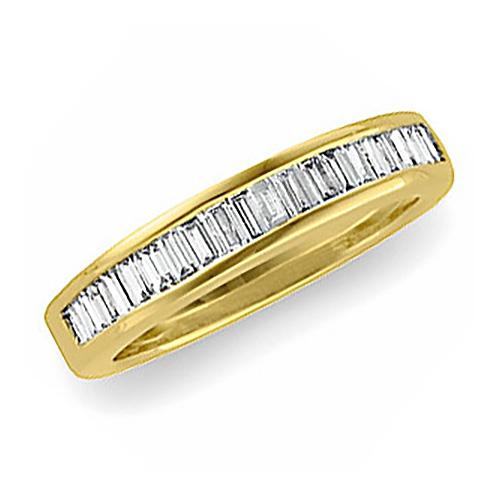 14kt Yellow Gold 3/4 CT TW Diamond Baguette Wedding Band