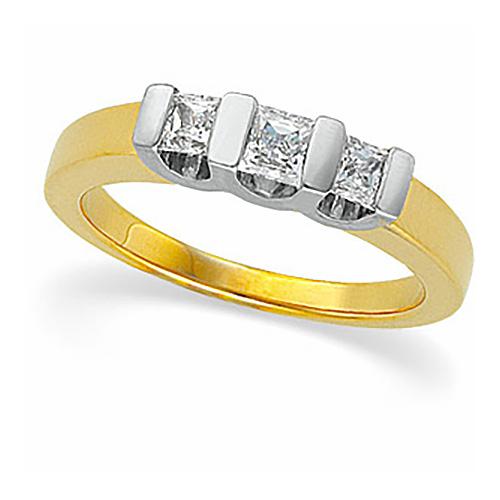 5/8 CT TW 14k Three Stone Ring