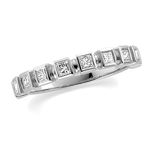 3/8 CT TW Diamond 14kt White Gold Band