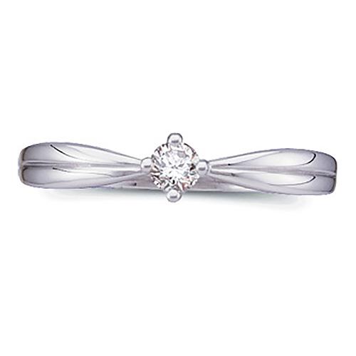 14k White Gold 1/10 ct tw Promise Ring