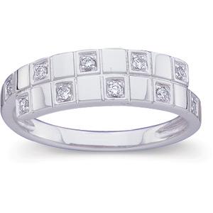 1/10 CT TW Diamond 14kt White Gold Ring