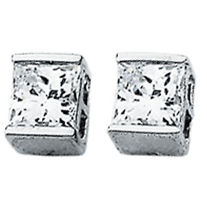 5x5mm CZ Stud Earrings