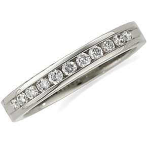 1/3 CT TW Diamond Platinum Wedding Band