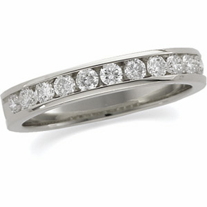 1/2 CT TW Channel Set Diamond Platinum Band