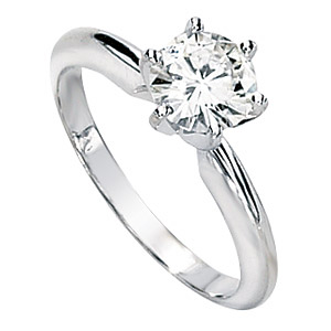 14kt White Gold 1 1/4 ct Forever Brilliant Moissanite Solitaire Ring
