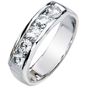 14kt White Gold 1.25 ct tw Moissanite Men's Ring
