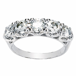 14kt White Gold 1.62 CT Moissanite Anniversary Band