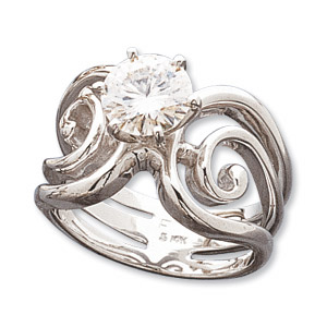 1.5 CT Moissanite Portico Ring - 14kt White Gold