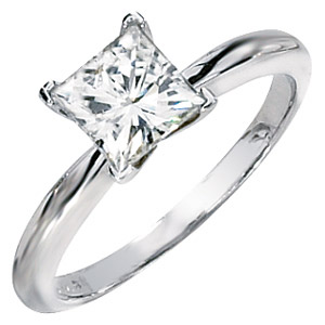 14kt White Gold 1.36 CT Forever Classic Moissanite Square Ring