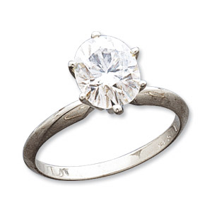2.20 CT 14KW Moissanite Oval Ring