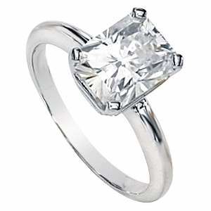 2.75 CT 14KW Moissanite Radiant Cut Ring