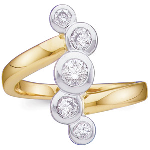 1/2 CT TW Right Hand Diamond Ring