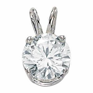 14kt White Gold 2 ct Moissanite Necklace