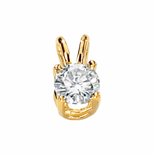 14kt Yellow gold 1/2 ct Moissanite Necklace