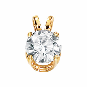 14kt Yellow Gold 1 ct Moissanite Necklace