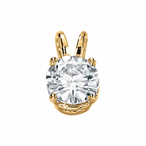 14kt Yellow Gold 3/4 ct Moissanite Necklace