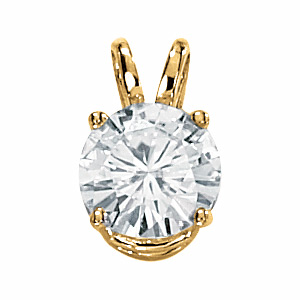 14kt Yellow Gold 1 1/2 ct Moissanite Necklace