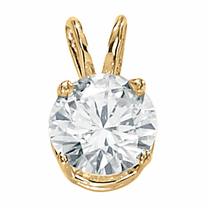 14kt Yellow Gold 2 ct Moissanite Necklace