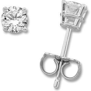 14kt White Gold 1 CT TW Moissanite Stud Earrings