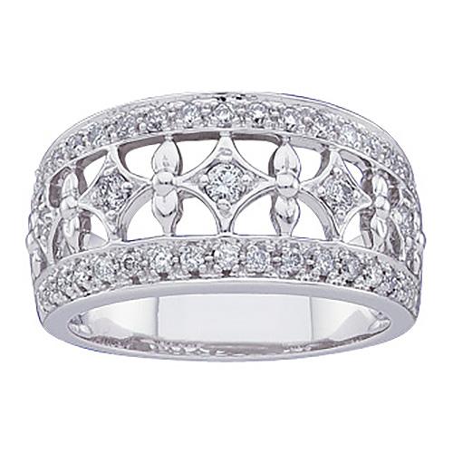 14k White Gold 1/2 CT TW Diamond Fashion Ring