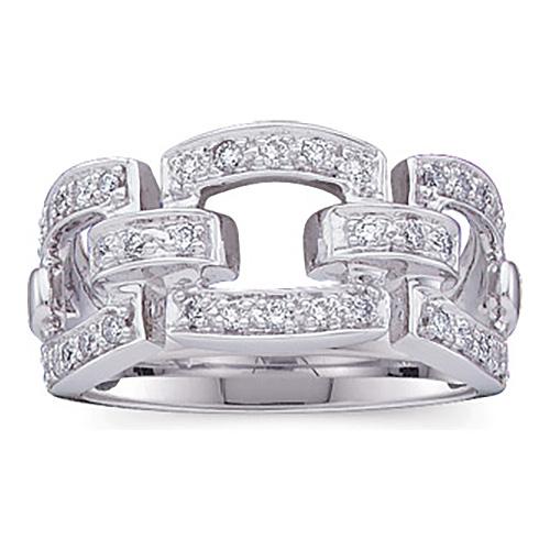 1/3 CT TW 14kt White Gold Diamond Links Ring