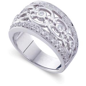 1/3 CT TW 14kt White Gold Diamond Fashion Ring